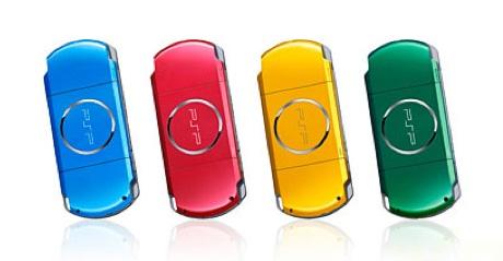 Japão ganha modelos coloridos de PSP