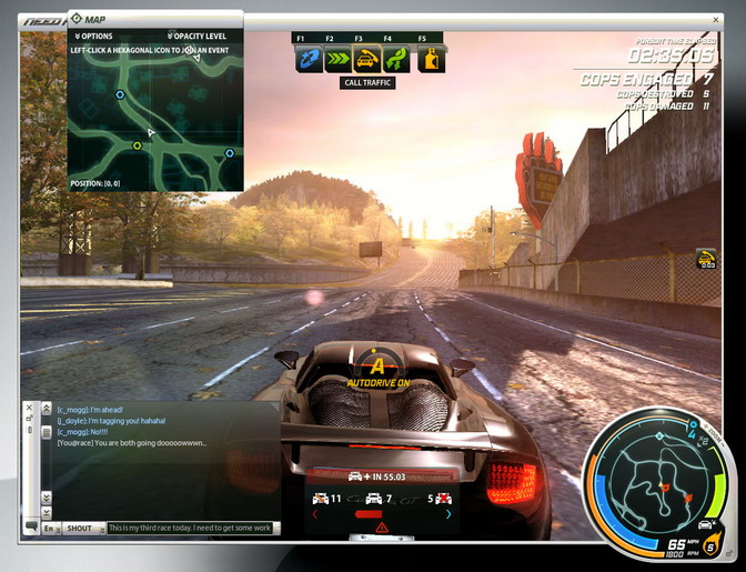 Interface NFS World Online